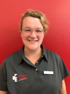 Tierärztin Carolin Kempkensteffen in der Tierarztpraxis am Landhagen