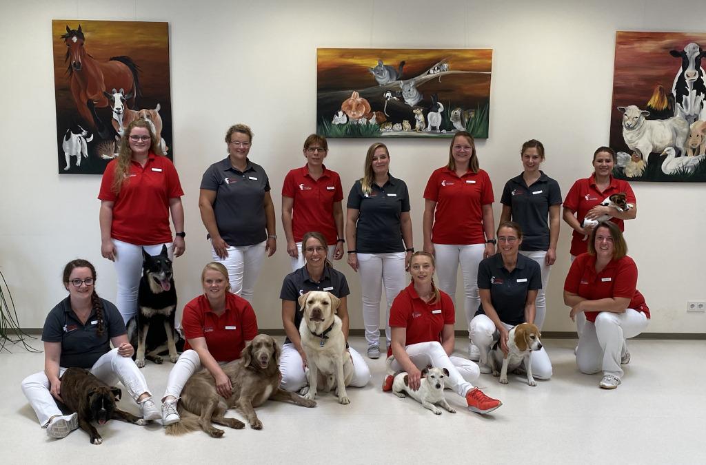 Das Tierarztpraxis am Landhagen Team in Oelde